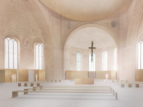 Innenraum Parochialkirche Berlin, 2.Preis