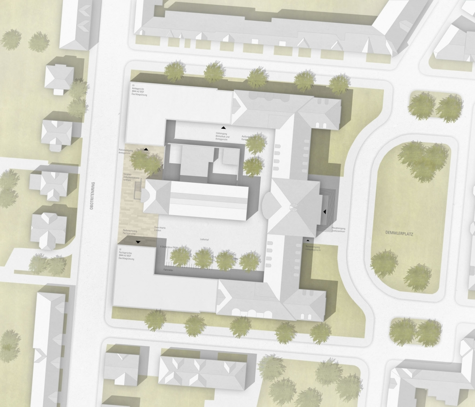 Justizzentrum Demmlerplatz, Schwerin, 3. Preis
